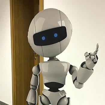 Samostojný vyfrézovaný 3D robot.
